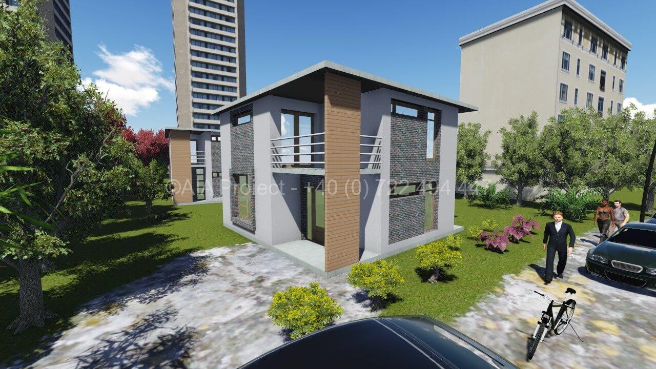 Proiect casa cu etaj moderna
