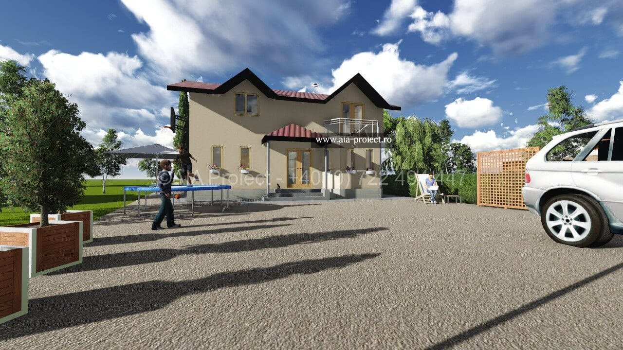 Proiect casa parter cu etaj Begonia, proiect P+1