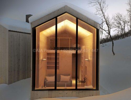 Proiect cabana de munte din Buskerud. Norvegia