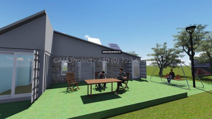 Proiect casa container parter P+Pod