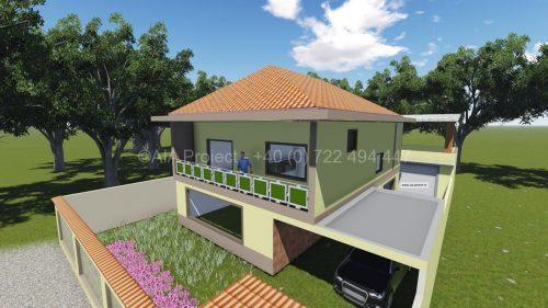 Proiect casa parter cu etaj P+1 Liliac