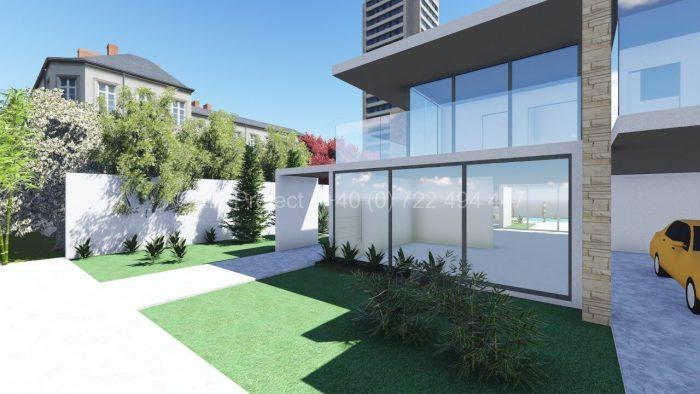 Proiect casa parter cu etaj P+1 moderna Anemona