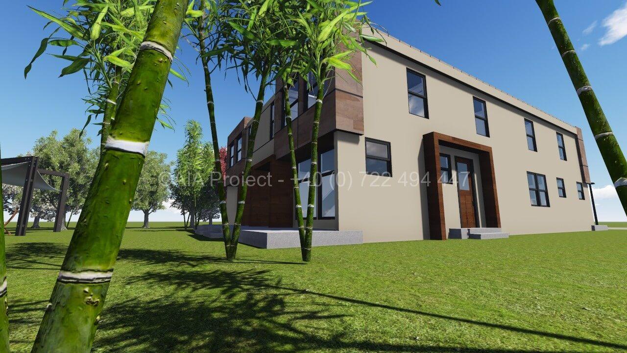 Proiect doua locuinte moderne cuplate P+1 Buconvilia