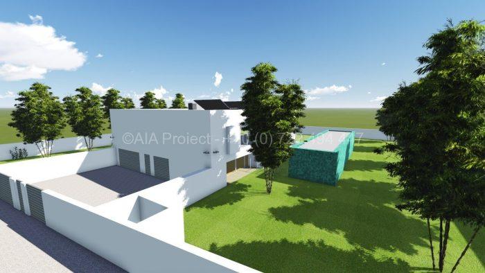 Proiect casa moderna P+1 Trandafir