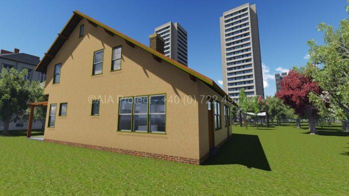 Proiect casa parter cu etaj si mansarda P+1+M Plumeria