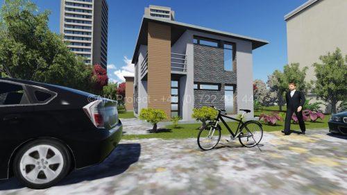 Proiect casa cu etaj moderna P+1 Hortensia