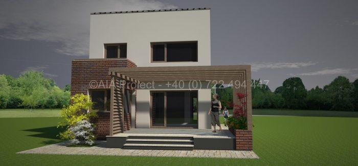 Proiect casa cu mansarda P+M Bujorul Alb