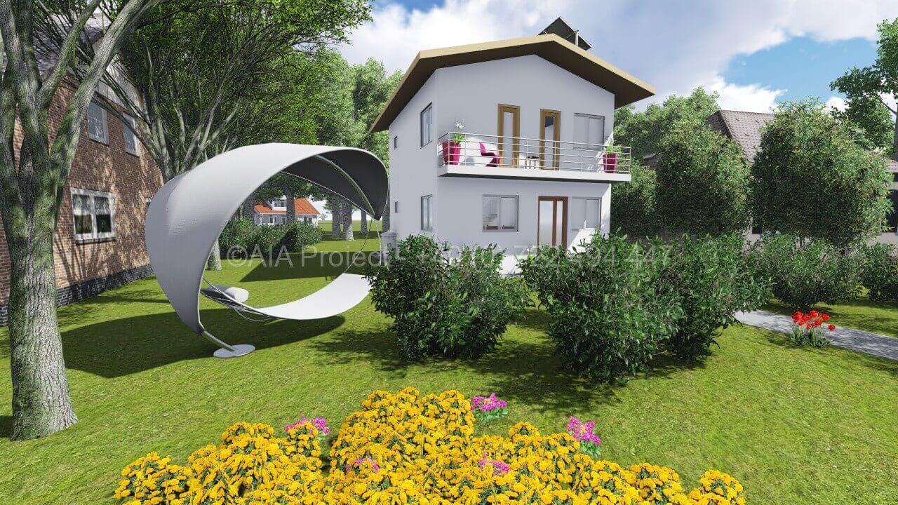 Proiect casa parter cu etaj simpla P+1 Brandusa
