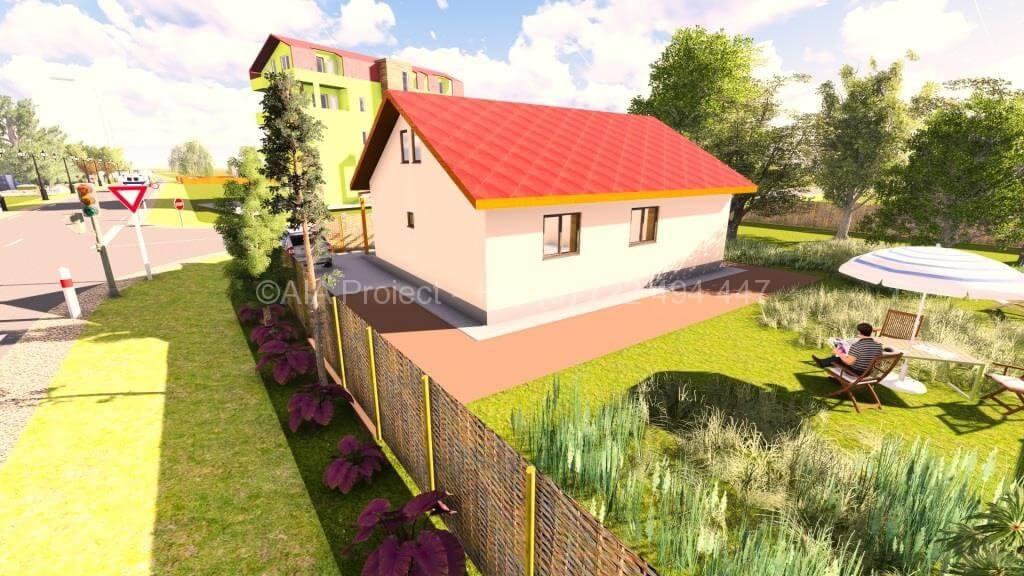 Proiect de casa parter cu mansarda P+M Lavanda