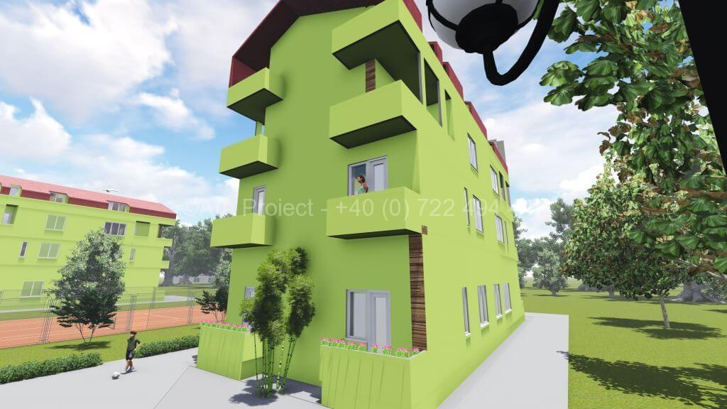 Proiect locuinte colective P+2+M Alior
