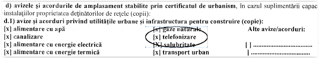 Aviz telefonizare pentru autorizatia de construire - AIA Proiect
