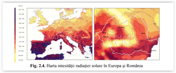 Radiatia solara globala pentru sisteme de panouri fotovoltaice - AIA Proiect