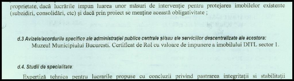 Despre aviz de demolare de la Muzeul Municipiului Bucuresti
