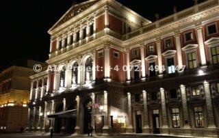 Cladirea operei din Viena - noaptea
