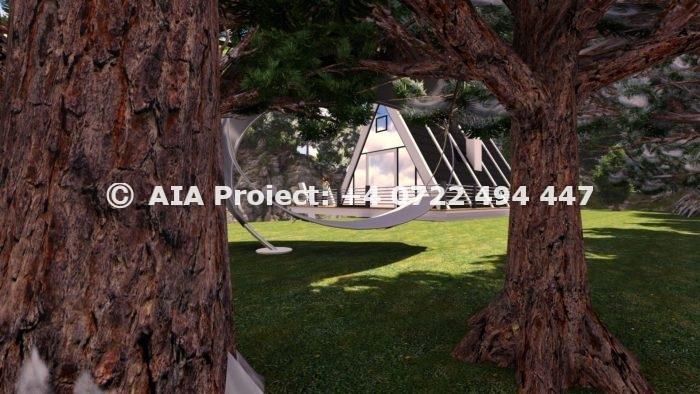 Proiect de casa de vacanta tip A-frame - Floare de colt