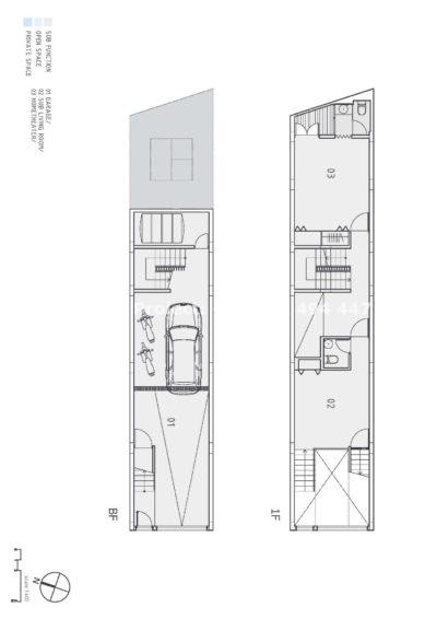 Proiect de casa pe teren ingust cu doua calcane
