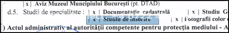 Studiu de insorire in certificatul de urbanism