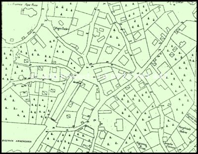Harta veche - zona Armeneasca - Casa Melik