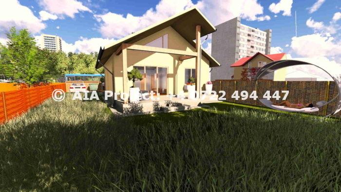 Proiect de casa parter calcan - Bergenia de la AIA Proiect - Birou de proiectare