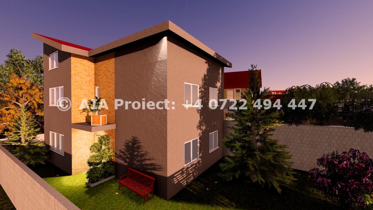 Proiect de casa la parter cu etaj si mansarda la calcan Stapelia 15