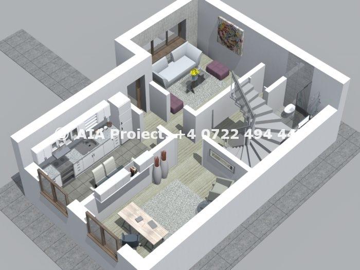 Proiect de casă P+E+M la calcan Stapelia