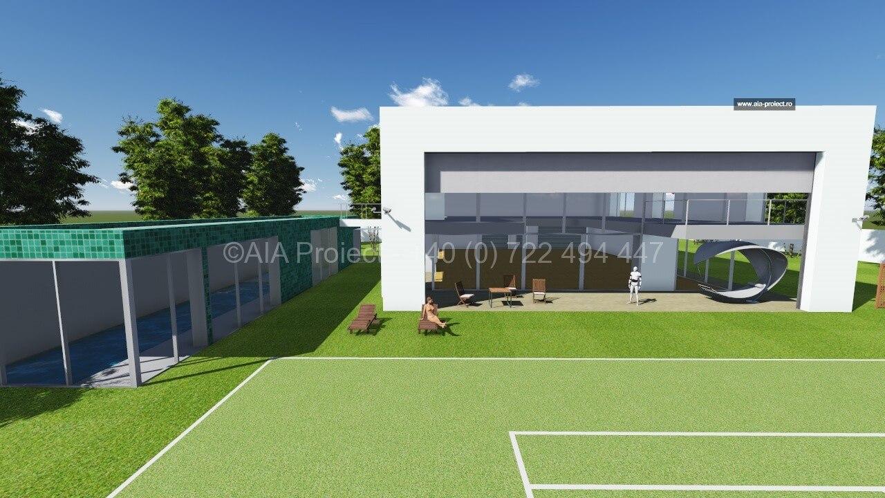 Proiect casa moderna p 1 trandafir for Casa moderna romania