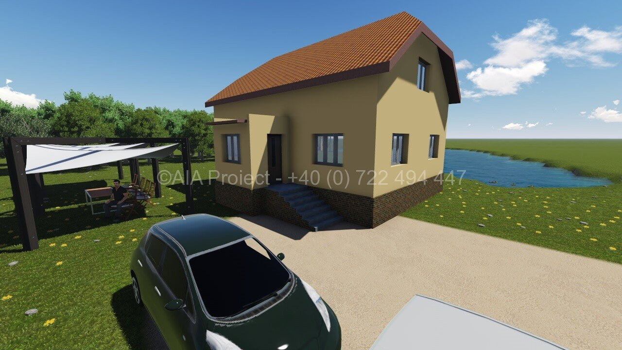 Proiect casa parter cu mansarda 0722494447 proiect casa parter cu mansarda Proiect casa parter cu mansarda Petunia P+M 3 casa simpla parter cu mansarda 0722494447