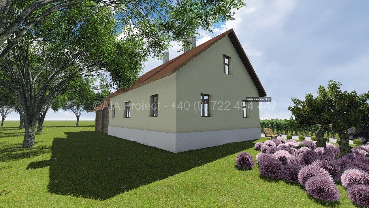 Proiect casa parter cu mansarda Lacramioara P+M 0722494447