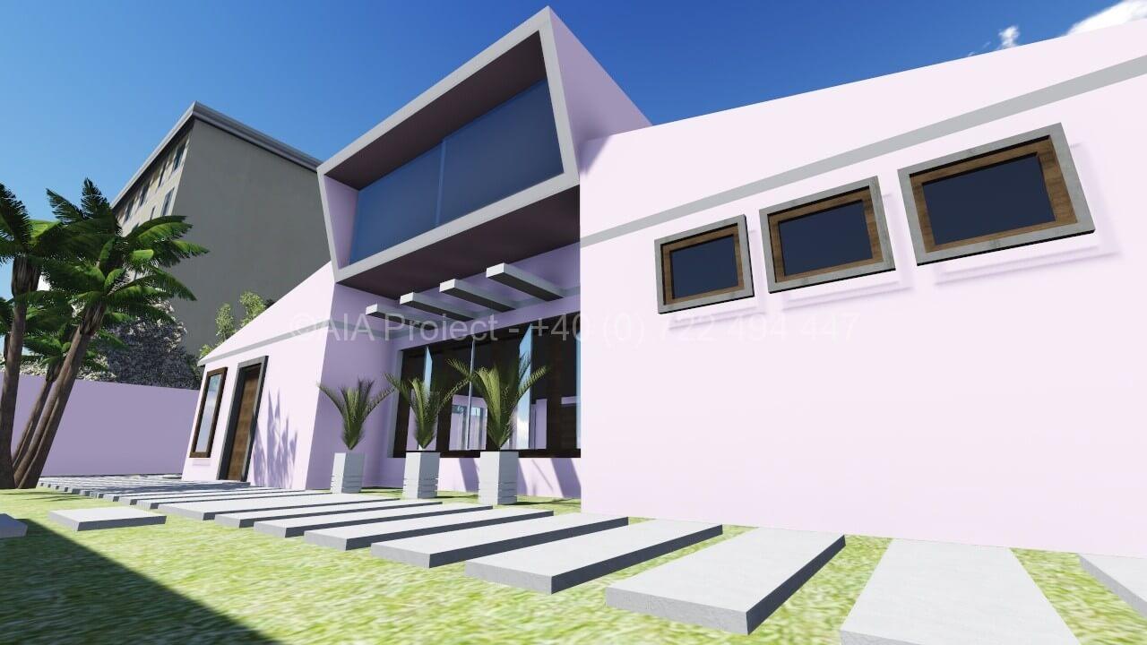 Proiect casa parter si mansarda frezia p m cu arhitectura for Casa moderna 5