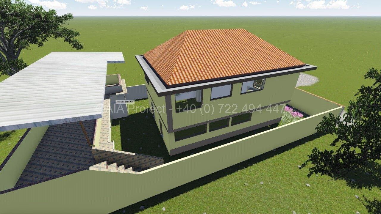 Proiect casa parter cu etaj 0722494447