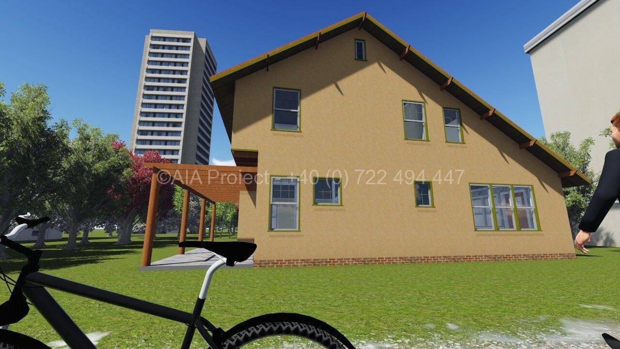 Proiect casa parter cu etaj si mansarda