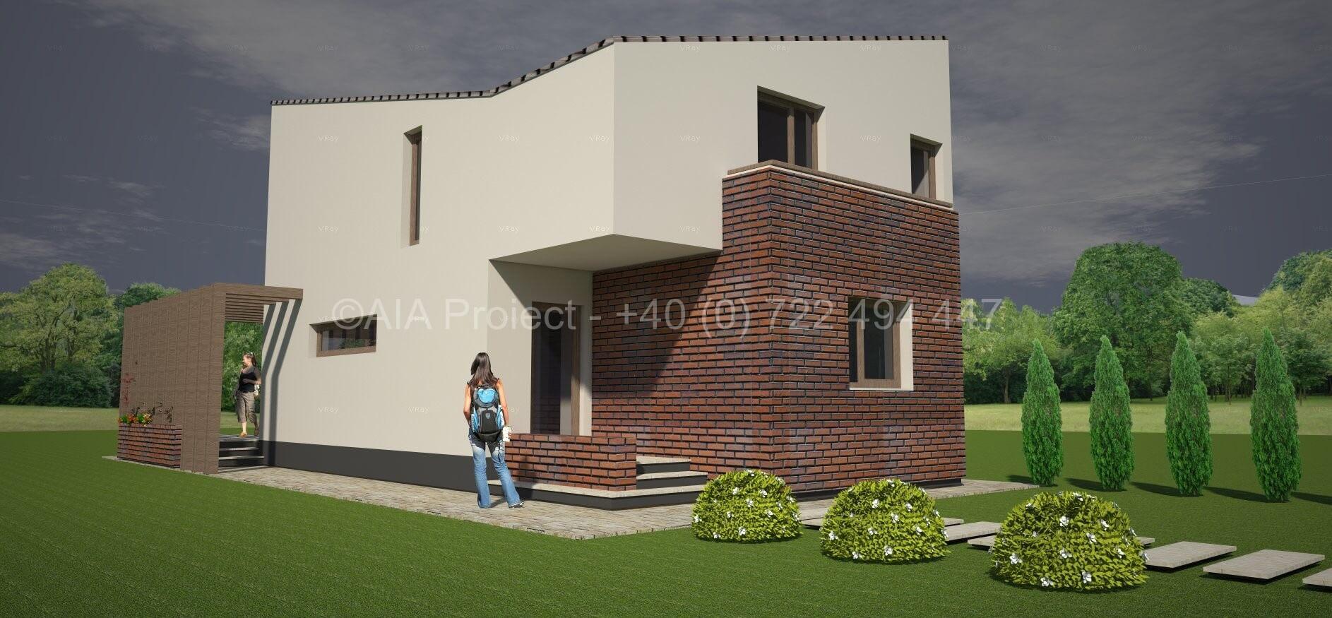 Proiect casa cu mansarda Bujorul Alb
