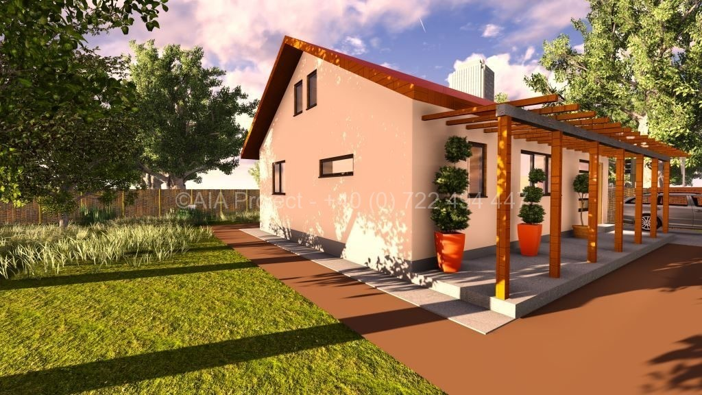 Proiect de casa parter cu mansarda Lavanda de la AIA Proiect - 2018.