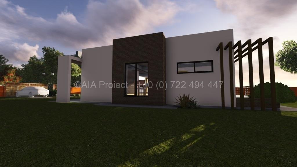 Proiect de casa parter cu terasa moderna Corpse de la AIA Proiect